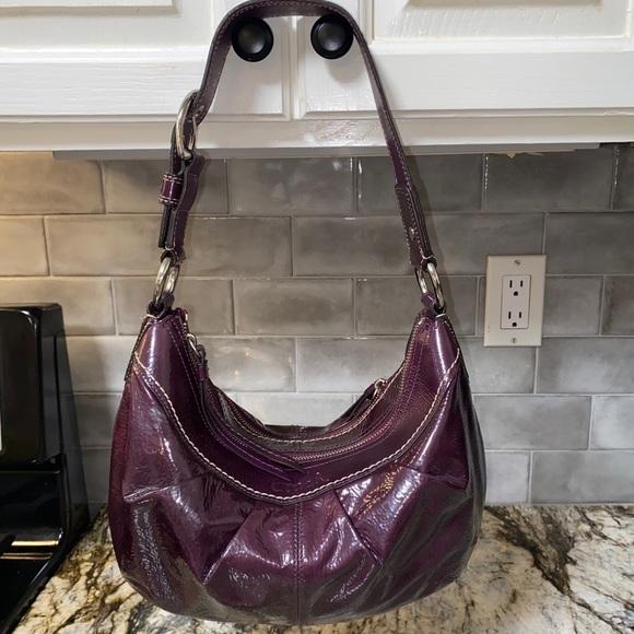Coach Shiny Patent Leather HOBO/ Shoulder Bag